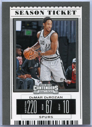 DeMar DeRozan Season Ticket card #14 Contenders Draft Picks 2019