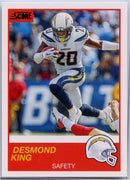 Desmond King 2019 Score Football #26 card