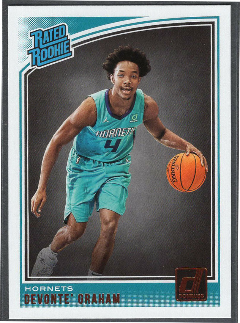 Devonte' Graham 2018-19 Donruss Basketball Rated Rookie #189 Hornets point guard