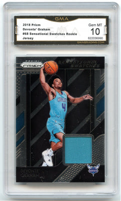 2018-19 Prizm Basketball Devonte Graham Sensational Swatches #68 GMA 10