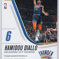 2018-19 Panini Threads Basketball No. 29 Hamidou Diallo autograph rookie card OKC Thunder
