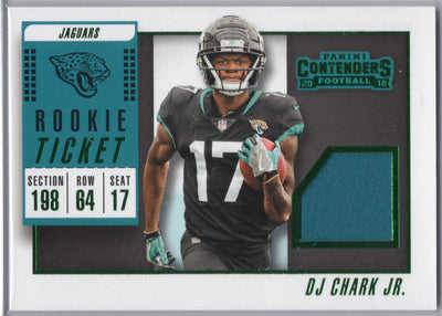 DJ Chark JR Rookie Ticket Patch card 2018 Contenders Football