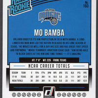 2018-19 Panini Donruss Basketball Rated Rookie No. 160 Mo Bamba card