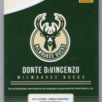03/99 Donte DiVincenzo autograph rookie card patch 2018-19 Donruss Basketball RMS-DDV