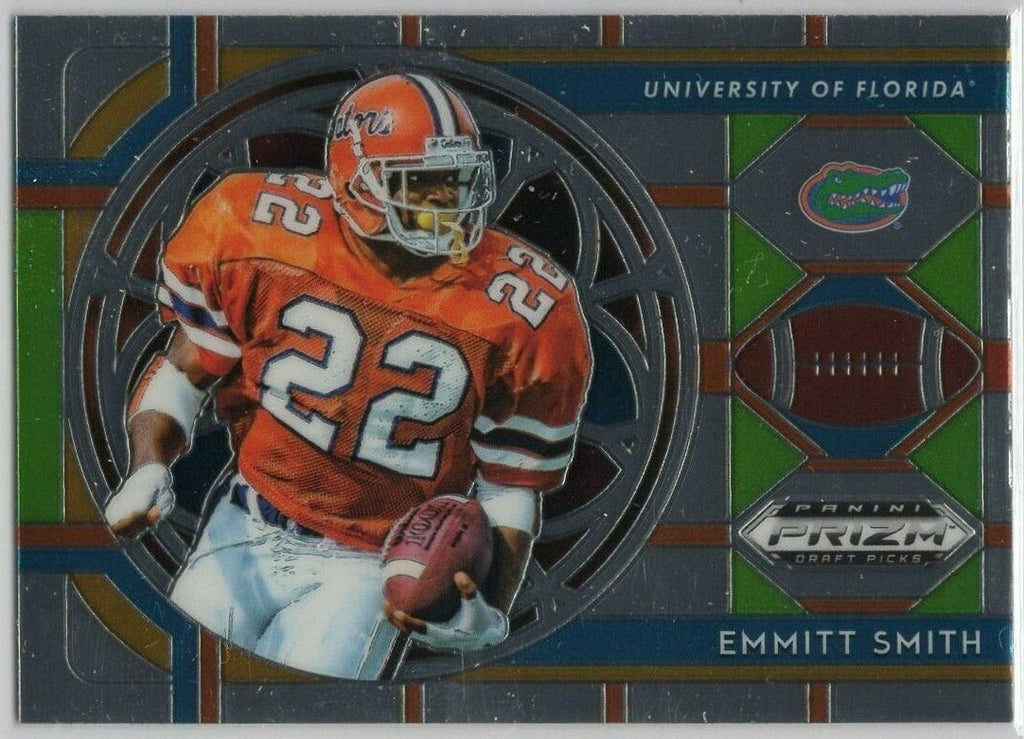 Emmitt Smith Stained Glass Insert card No. 54 2019 Prizm Draft Picks