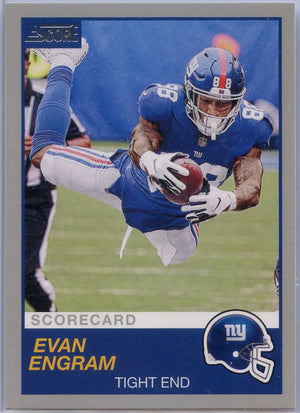 Evan Engram Grey Parallel 2019 Panini Score Football #178 Giants