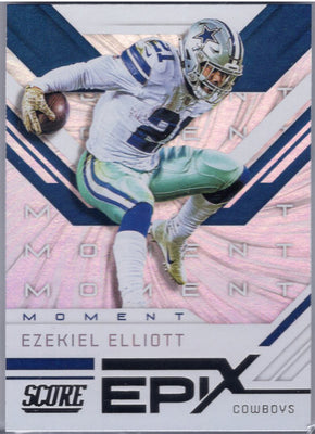 Ezekiel Elliott 2019 Score Football Epix em-9 Dallas Cowboys card