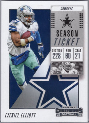 Ezekiel Elliott 2018 Panini Contenders #73 football card