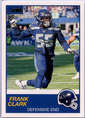 Frank Clark 2019 Score Football #320 Seattle Seahawks