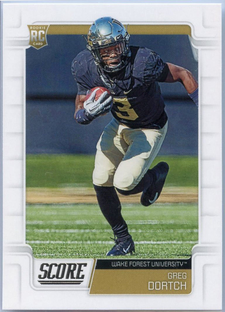 Greg Dortch RC 2019 Score Football #435 Wake Forest - Jets