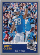 Greg Olsen Grey Parallel 2019 Score Football #258 Carolina Panthers card