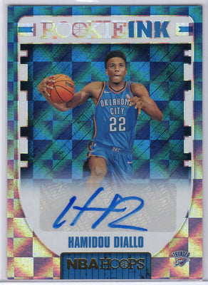 Hamidou Diallo Rookie Ink 2018-19 HOOPS Basketball Rookie card auto