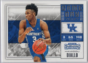 Hamidou Diallo rookie card 2018 Panini Contenders Draft Picks Basketball No. 26 Kentucky