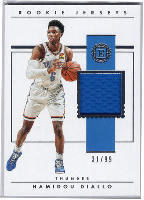 Hamidou Diallo Rookie Jerseys 2018-19 Panini Encased Basketball card
