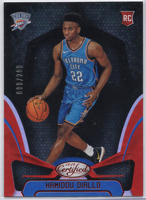 Hamidou Diallo rookie card No. 192 2018-19 Certified Basketball 009-299
