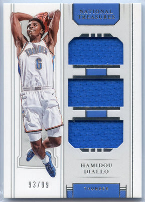 Hamidou Diallo rookie card 2018-19 National Treasures Basketball No. RT-HDL