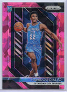 2018-19 Panini Prizm Basketball Hamidou Diallo rookie card Pink Cracked Ice No. 9 OKC Thunder