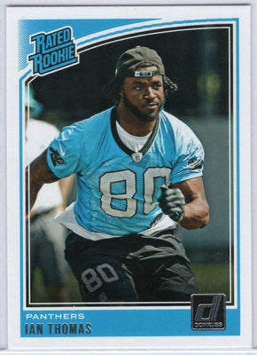 Ian Thomas Rated Rookie card 2018 Donruss Football No. 350