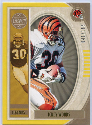 Ickey Woods 2019 Panini Legacy Football Legends card No. 137 Bengals