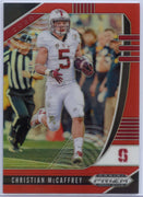 Christian McCaffrey RED PRIZM 2020 Prizm Draft Picks Card #17 Stanford