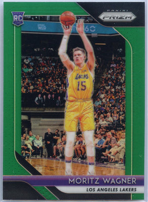 2018-19 Prizm Basketball Moritz Wagner GREEN PRIZM RC #284 Lakers
