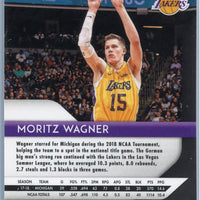 2018-19 Panini Prizm Basketball GREEN PRIZM Moritz Wagner rookie card #284 Lakers