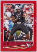 Javon Kinlaw RATED ROOKIE 2020 Donruss Football Press Proof Red Parallel #265 San Francisco 49ers
