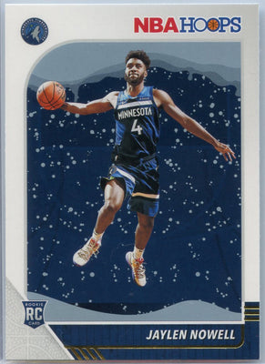 Jaylen Nowell Rookie Card Winter Snowflake 2019-20 Panini Hoops Basketball #232 T-Wolves