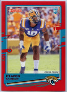 K'Lavon Chaisson RATED ROOKIE 2020 Donruss Football Press Proof Red Parallel #267 linebacker