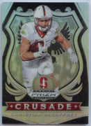 Christian McCaffrey SILVER Prizm Card #25 2020 Prizm Draft Picks CRUSADE