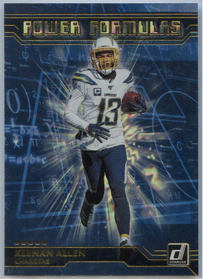 2020 Donruss Football Keenan Allan Power Formulas Card #PF-KA LA Chargers
