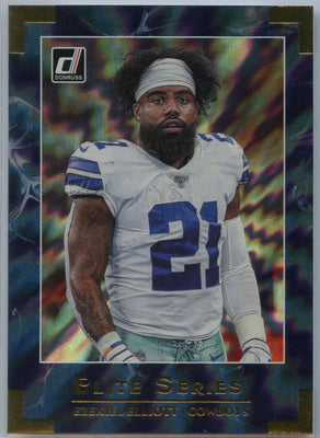 2020 Donruss Football Ezekiel Elliott ELITE SERIES Card #ES-EE Dallas RB