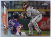 2020 Topps Chrome Brandon Crawford REFRACTOR Card #88