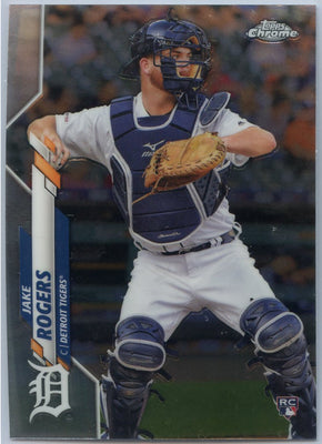 2020 Topps Chrome Jake Rogers Rookie Card #47