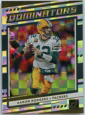 2020 Donruss Football Aaron Rodgers DOMINATORS card #D-AR Packers