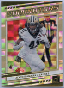 2020 Donruss Football Alvin Kamara DOMINATORS card #D-AK