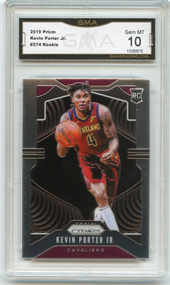 2019-20 Prizm Basketball Kevin Porter Jr Rookie Card #274 Cavilers GMA 10