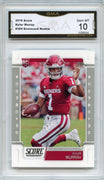 2019 Score Football Kyler Murray RC Grey SCORECARD #384 GMA 10