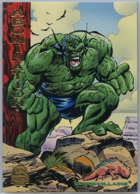 1994 Marvel Universe Super-Villains Abomination #186