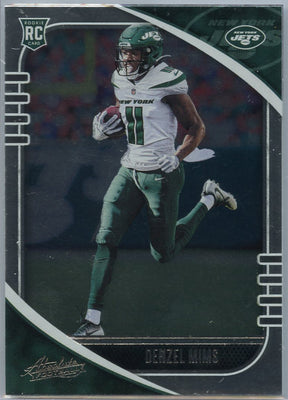 2020 Absolute Football Denzel Mims Rookie Card #129 New York Jets WR
