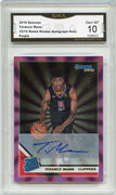 2019-20 Panini Donruss Basketball 12/15 Terance Mann Auto RATED ROOKIE Card #242 Purple Holo GMA 10