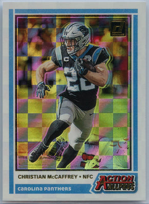 2020 Donruss Football Christian McCaffrey Action All Pros Card #AAP-CM
