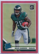 Miles Sanders Pink RATED ROOKIE Card #172 2019 Optic Football Eagles RB
