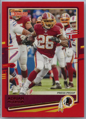 2020 Donruss Football Adrian Peterson PRESS PROOF Red Parallel #238 Washington Redskins RB