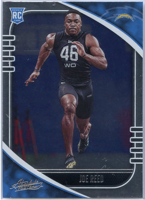 2020 Absolute Football Joe Reed Rookie Card #159 LA Chargers wide receiver