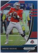 2020 Prizm Draft Picks Dwayne Haskins BLUE PRIZM Football Card #42 OSU QB