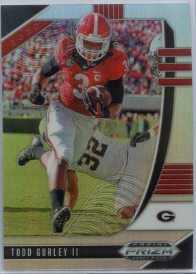 2020 Prizm Draft Picks Todd Gurley SILVER PRIZM Football Card #96 Georgia running back
