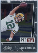 2020 Absolute Football Aaron Rodgers RED ZONE Card #RZ-AR