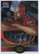 1996 Upper Deck SP Career Statistics Gold #S5 Shaquille O'Neal USA Basketball Die Cut