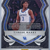 Tyrese Maxey CRUSADE RED CRACKED ICE rookie card number 94 2020-21 Panini Prizm Draft Picks
